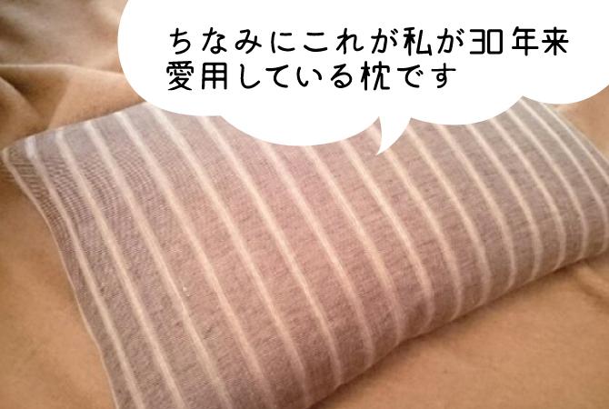 ちなみにこれが私が30年来 愛用している枕です