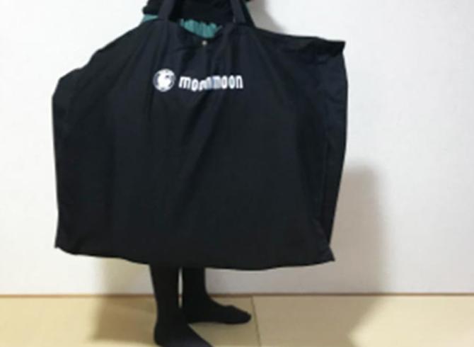 黒い大きめのキャリーバッグの中に、YOKONE3が入っています